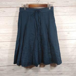 Banana Republic 2 Navy blue linen skirt